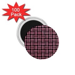 Woven1 Black Marble & Pink Watercolor (r) 1 75  Magnets (100 Pack)  by trendistuff