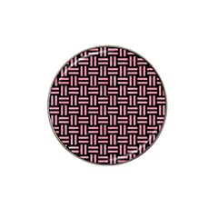Woven1 Black Marble & Pink Watercolor (r) Hat Clip Ball Marker (4 Pack) by trendistuff