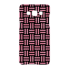 Woven1 Black Marble & Pink Watercolor (r) Samsung Galaxy A5 Hardshell Case  by trendistuff