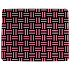 Woven1 Black Marble & Pink Watercolor (r) Jigsaw Puzzle Photo Stand (rectangular) by trendistuff