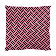 Woven2 Black Marble & Pink Watercolor Standard Cushion Case (one Side) by trendistuff