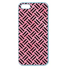 Woven2 Black Marble & Pink Watercolor Apple Seamless Iphone 5 Case (color) by trendistuff