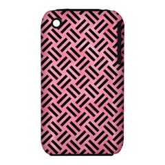 Woven2 Black Marble & Pink Watercolor Iphone 3s/3gs by trendistuff