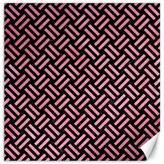 Woven2 Black Marble & Pink Watercolor (r) Canvas 16  X 16   by trendistuff