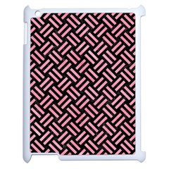 Woven2 Black Marble & Pink Watercolor (r) Apple Ipad 2 Case (white) by trendistuff