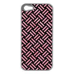 Woven2 Black Marble & Pink Watercolor (r) Apple Iphone 5 Case (silver) by trendistuff