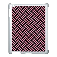 Woven2 Black Marble & Pink Watercolor (r) Apple Ipad 3/4 Case (white) by trendistuff