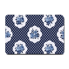 Shabby Chic Navy Blue Small Doormat  by 8fugoso
