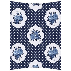 Shabby Chic Navy Blue Back Support Cushion by 8fugoso