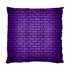 Brick1 Black Marble & Purple Brushed Metal Standard Cushion Case (one Side) by trendistuff