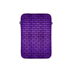 Brick1 Black Marble & Purple Brushed Metal Apple Ipad Mini Protective Soft Cases by trendistuff