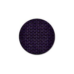 Brick1 Black Marble & Purple Brushed Metal (r) Golf Ball Marker (10 Pack) by trendistuff