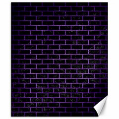 Brick1 Black Marble & Purple Brushed Metal (r) Canvas 20  X 24   by trendistuff