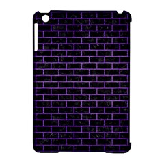 Brick1 Black Marble & Purple Brushed Metal (r) Apple Ipad Mini Hardshell Case (compatible With Smart Cover) by trendistuff