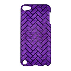 Brick2 Black Marble & Purple Brushed Metal Apple Ipod Touch 5 Hardshell Case by trendistuff