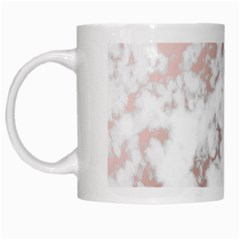 Pure And Beautiful White Marple And Rose Gold, Beautiful ,white Marple, Rose Gold,elegnat,chic,modern,decorative, White Mugs by 8fugoso