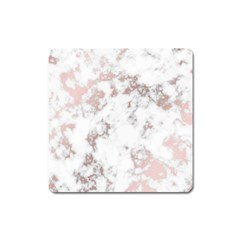 Pure And Beautiful White Marple And Rose Gold, Beautiful ,white Marple, Rose Gold,elegnat,chic,modern,decorative, Square Magnet by 8fugoso