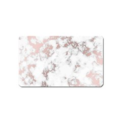 Pure And Beautiful White Marple And Rose Gold, Beautiful ,white Marple, Rose Gold,elegnat,chic,modern,decorative, Magnet (name Card) by 8fugoso