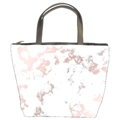 Pure And Beautiful White Marple And Rose Gold, Beautiful ,white Marple, Rose Gold,elegnat,chic,modern,decorative, Bucket Bags by 8fugoso