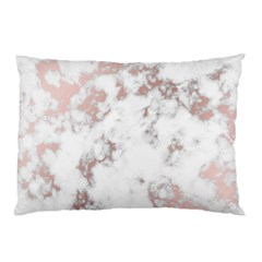 Pure And Beautiful White Marple And Rose Gold, Beautiful ,white Marple, Rose Gold,elegnat,chic,modern,decorative, Pillow Case by 8fugoso