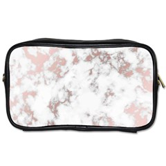 Pure And Beautiful White Marple And Rose Gold, Beautiful ,white Marple, Rose Gold,elegnat,chic,modern,decorative, Toiletries Bags by 8fugoso