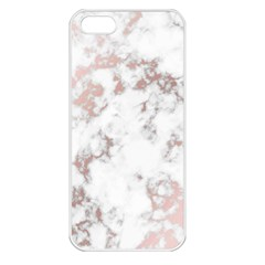 Pure And Beautiful White Marple And Rose Gold, Beautiful ,white Marple, Rose Gold,elegnat,chic,modern,decorative, Apple Iphone 5 Seamless Case (white) by 8fugoso