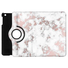 Pure And Beautiful White Marple And Rose Gold, Beautiful ,white Marple, Rose Gold,elegnat,chic,modern,decorative, Apple Ipad Mini Flip 360 Case by 8fugoso