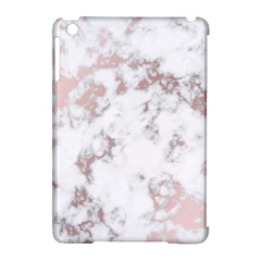 Pure And Beautiful White Marple And Rose Gold, Beautiful ,white Marple, Rose Gold,elegnat,chic,modern,decorative, Apple Ipad Mini Hardshell Case (compatible With Smart Cover) by 8fugoso