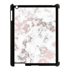Pure And Beautiful White Marple And Rose Gold, Beautiful ,white Marple, Rose Gold,elegnat,chic,modern,decorative, Apple Ipad 3/4 Case (black) by 8fugoso
