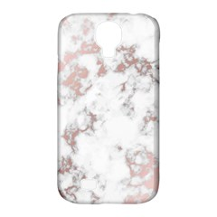 Pure And Beautiful White Marple And Rose Gold, Beautiful ,white Marple, Rose Gold,elegnat,chic,modern,decorative, Samsung Galaxy S4 Classic Hardshell Case (pc+silicone) by 8fugoso