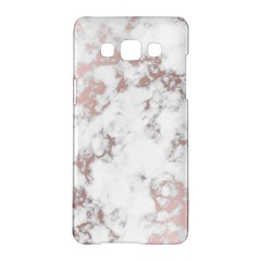 Pure And Beautiful White Marple And Rose Gold, Beautiful ,white Marple, Rose Gold,elegnat,chic,modern,decorative, Samsung Galaxy A5 Hardshell Case  by 8fugoso