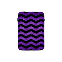 Chevron3 Black Marble & Purple Brushed Metal Apple Ipad Mini Protective Soft Cases by trendistuff