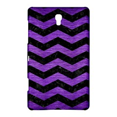 Chevron3 Black Marble & Purple Brushed Metal Samsung Galaxy Tab S (8 4 ) Hardshell Case  by trendistuff