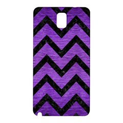 Chevron9 Black Marble & Purple Brushed Metal Samsung Galaxy Note 3 N9005 Hardshell Back Case