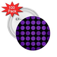 Circles1 Black Marble & Purple Brushed Metal (r) 2 25  Buttons (100 Pack)  by trendistuff