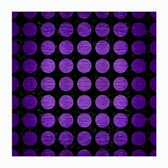 Circles1 Black Marble & Purple Brushed Metal (r) Medium Glasses Cloth (2 Side) by trendistuff