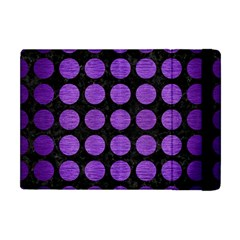 Circles1 Black Marble & Purple Brushed Metal (r) Apple Ipad Mini Flip Case by trendistuff