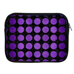 Circles1 Black Marble & Purple Brushed Metal (r) Apple Ipad 2/3/4 Zipper Cases by trendistuff