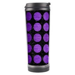 Circles1 Black Marble & Purple Brushed Metal (r) Travel Tumbler by trendistuff