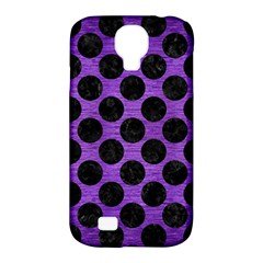 Circles2 Black Marble & Purple Brushed Metal Samsung Galaxy S4 Classic Hardshell Case (pc+silicone) by trendistuff