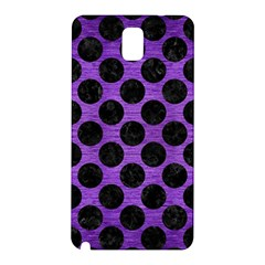 Circles2 Black Marble & Purple Brushed Metal Samsung Galaxy Note 3 N9005 Hardshell Back Case
