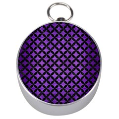 Circles3 Black Marble & Purple Brushed Metal Silver Compasses