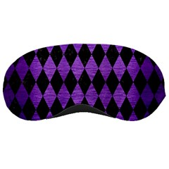 Diamond1 Black Marble & Purple Brushed Metal Sleeping Masks by trendistuff