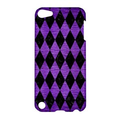 Diamond1 Black Marble & Purple Brushed Metal Apple Ipod Touch 5 Hardshell Case by trendistuff