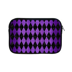 Diamond1 Black Marble & Purple Brushed Metal Apple Ipad Mini Zipper Cases