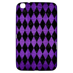 Diamond1 Black Marble & Purple Brushed Metal Samsung Galaxy Tab 3 (8 ) T3100 Hardshell Case  by trendistuff