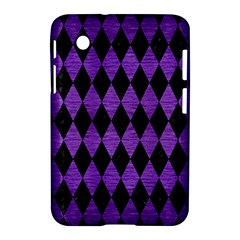 Diamond1 Black Marble & Purple Brushed Metal Samsung Galaxy Tab 2 (7 ) P3100 Hardshell Case  by trendistuff