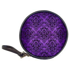 Damask1 Black Marble & Purple Brushed Metal Classic 20 Cd Wallets by trendistuff
