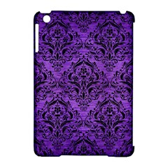 Damask1 Black Marble & Purple Brushed Metal Apple Ipad Mini Hardshell Case (compatible With Smart Cover) by trendistuff