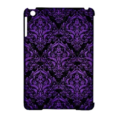 Damask1 Black Marble & Purple Brushed Metal (r) Apple Ipad Mini Hardshell Case (compatible With Smart Cover) by trendistuff